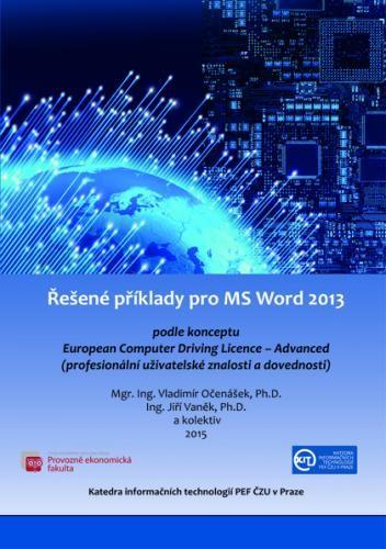 Řešené příklady pro MS Word 2013