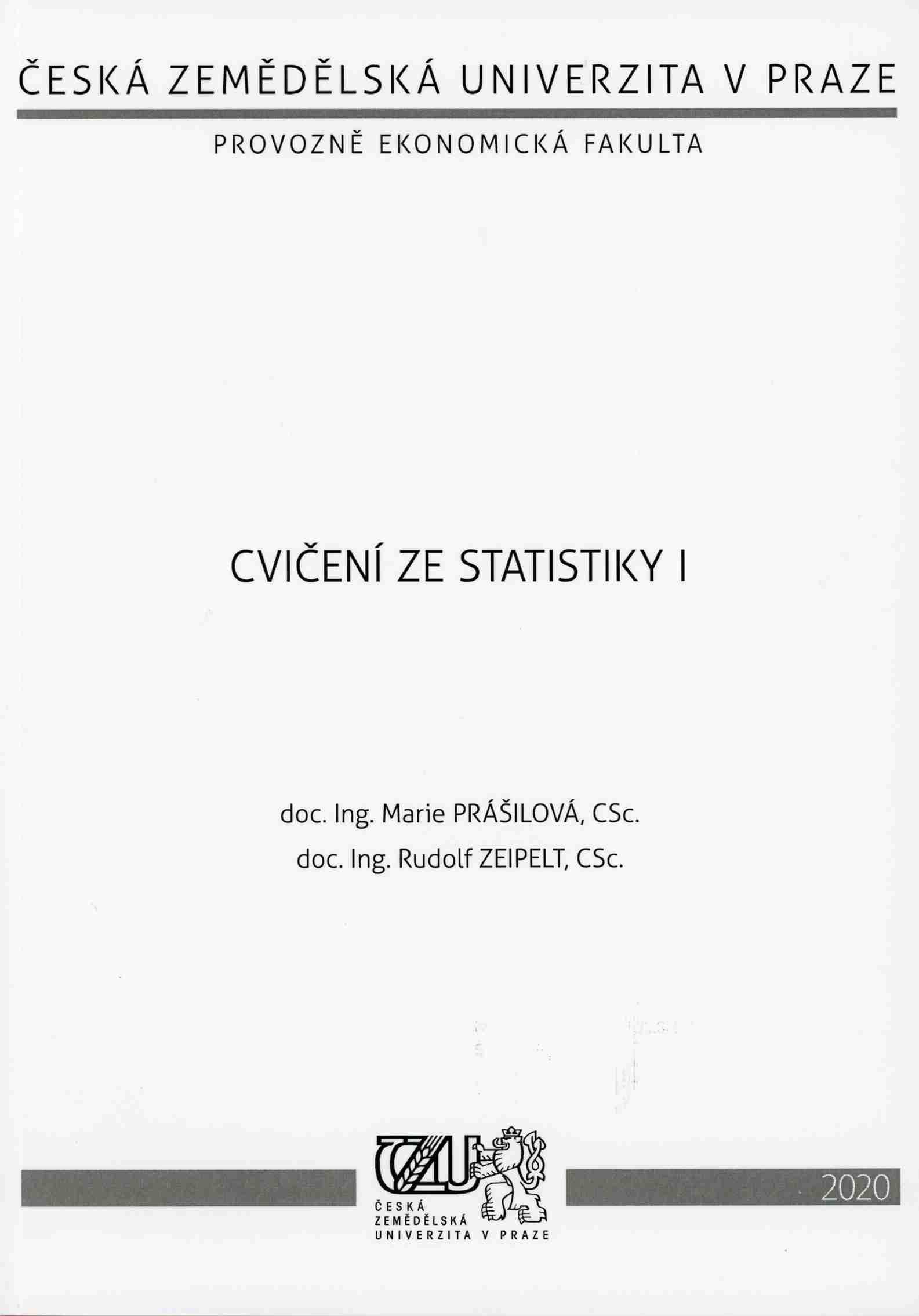 Cvičení ze statistiky I