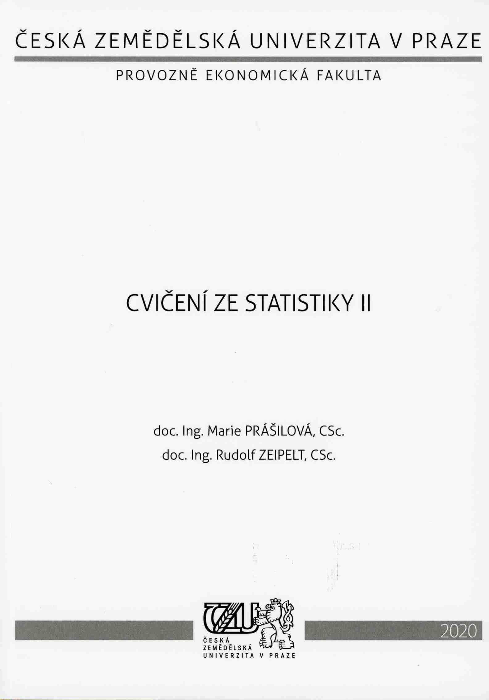 Cvičení ze statistiky II