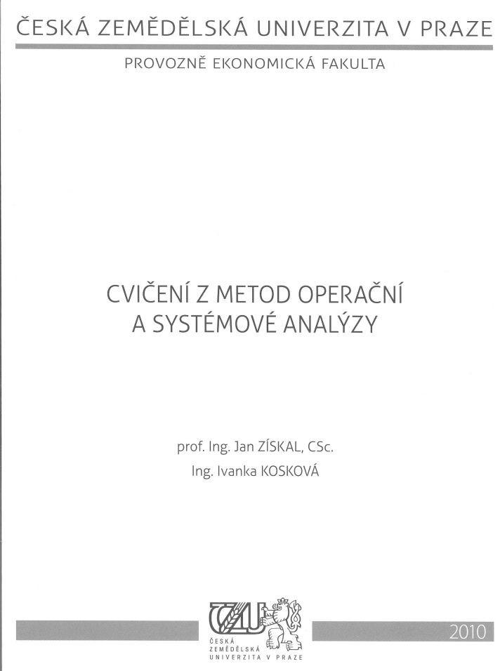 Cvičení z metod operační a systémové analýzy