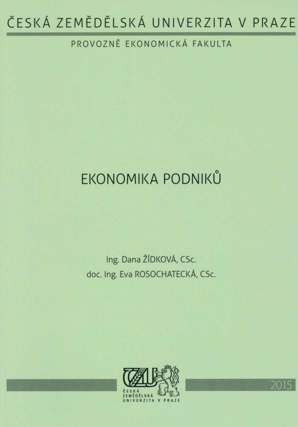 Ekonomika podniků (PaA, VSRR)
