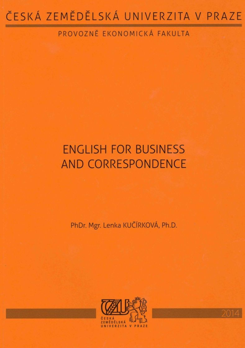 English for Business and Correspondence
