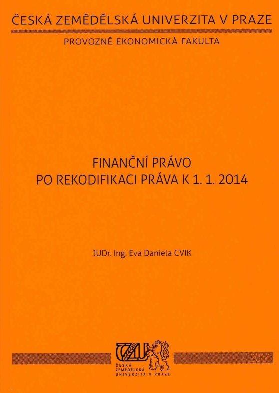 Finanční právo po rekodifikaci práva k 1. 1. 2014