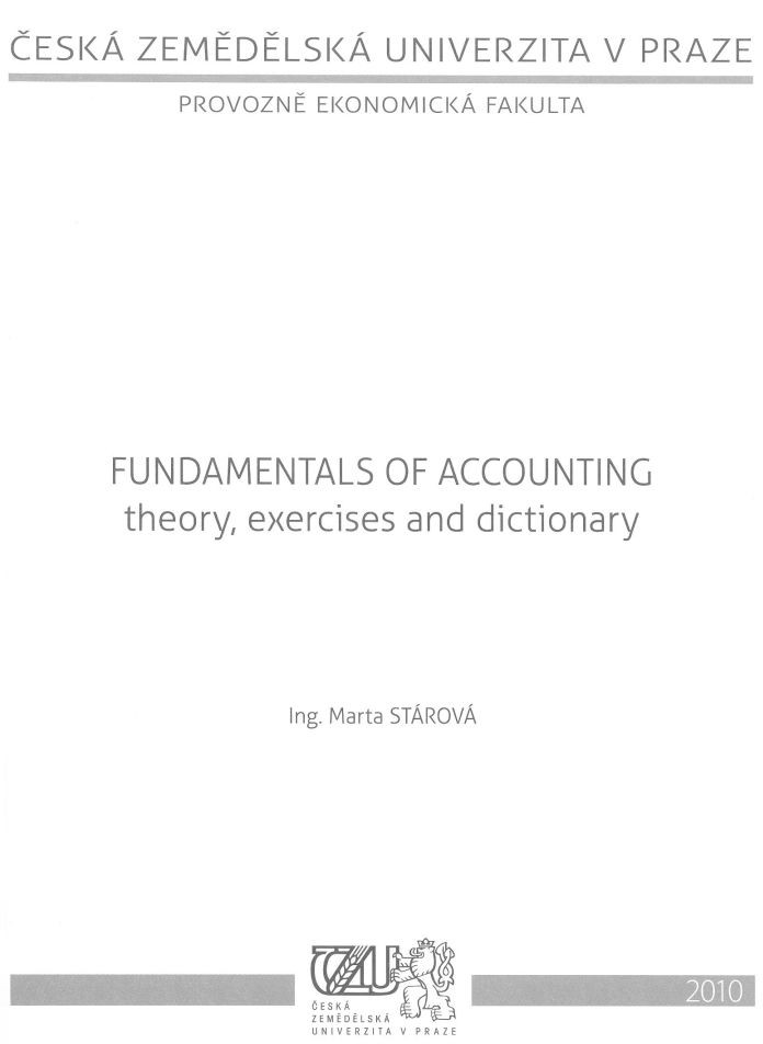 Fundamentals of Accounting - theory, exercises and dictionary