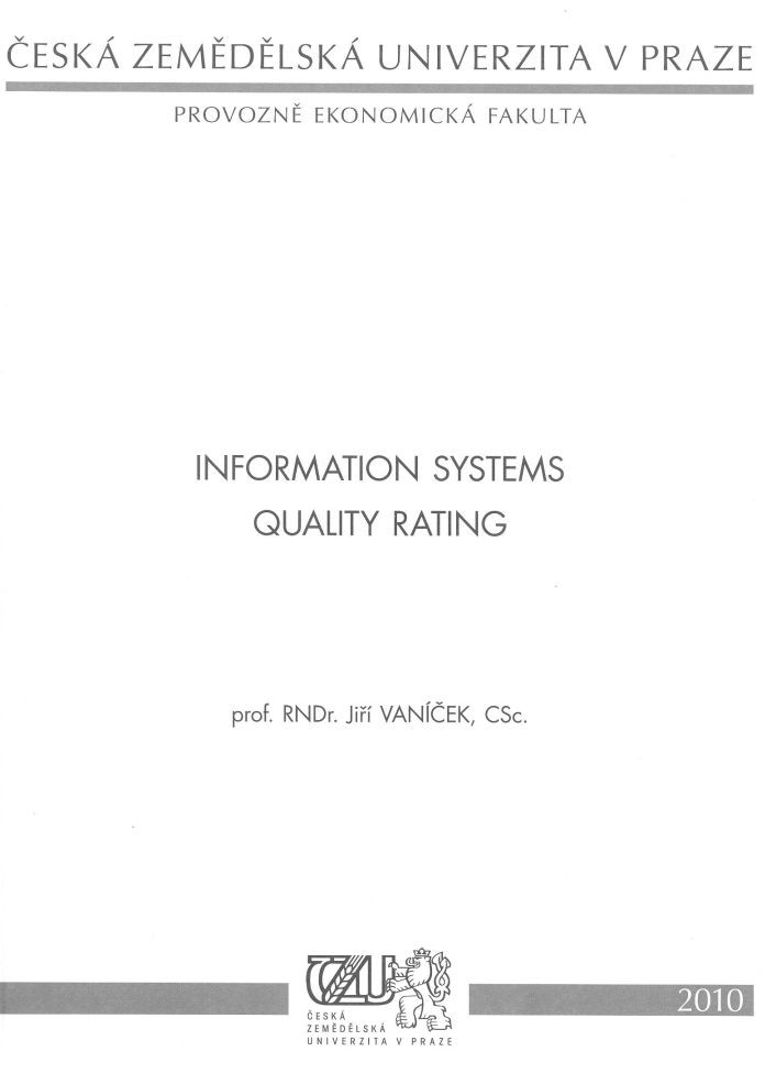 Information Systems Quality Rating