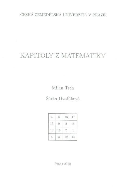 Kapitoly z matematiky