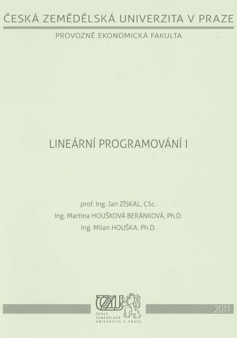 Lineární programování I