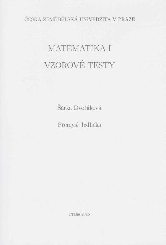 Matematika I - vzorové testy