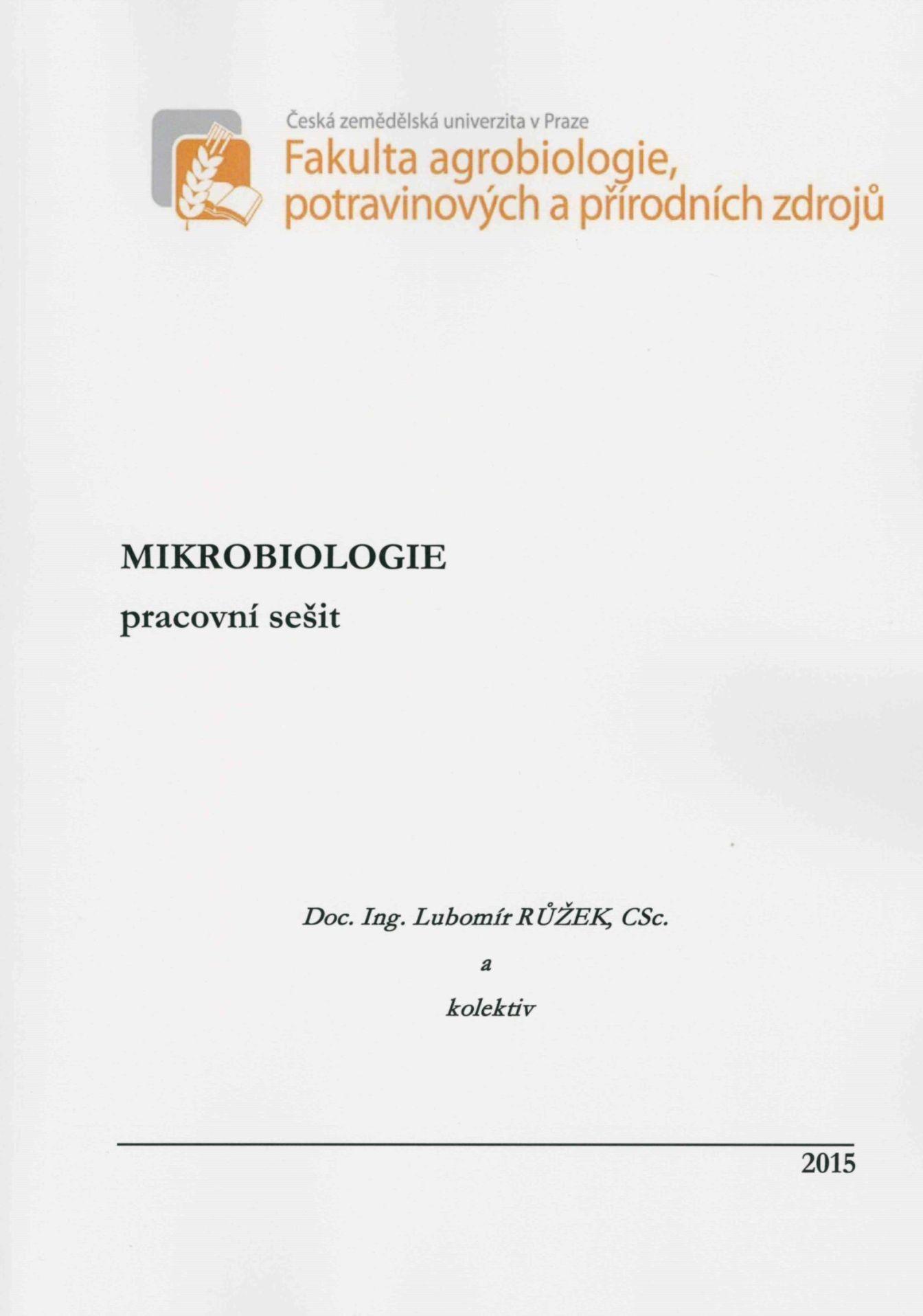 Mikrobiologie - pracovní sešit