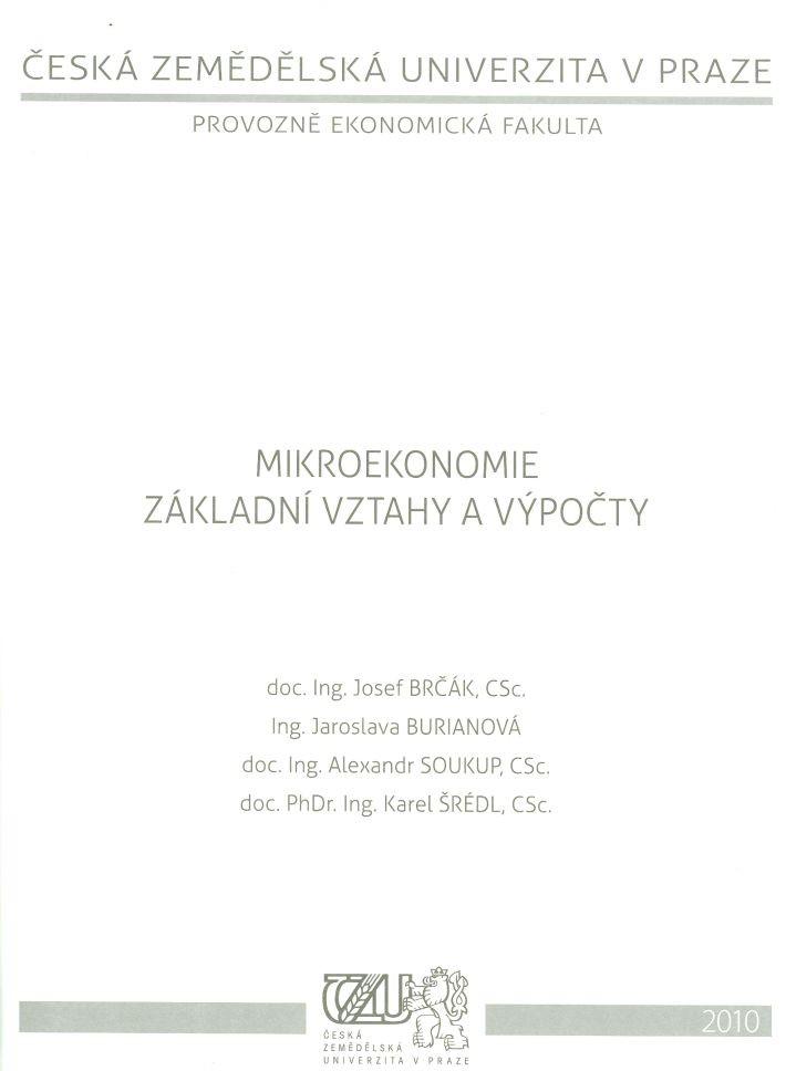 Mikroekonomie - základní vztahy a výpočty