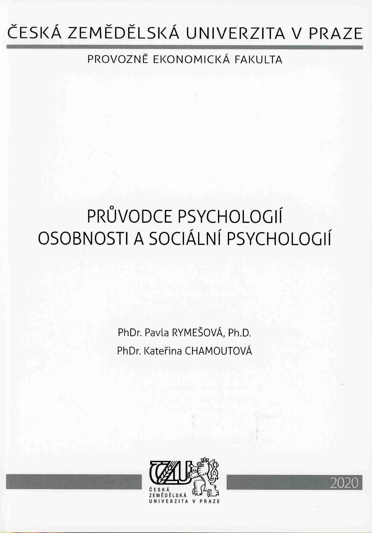 Průvodce psychologií osobnosti a sociální psychologií