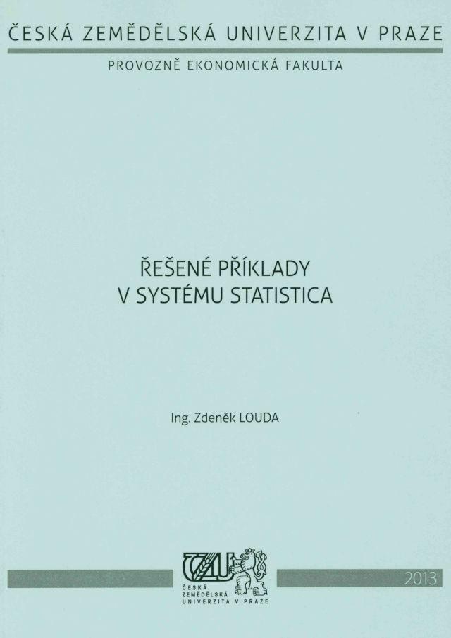 Řešené příklady v systému STATISTICA