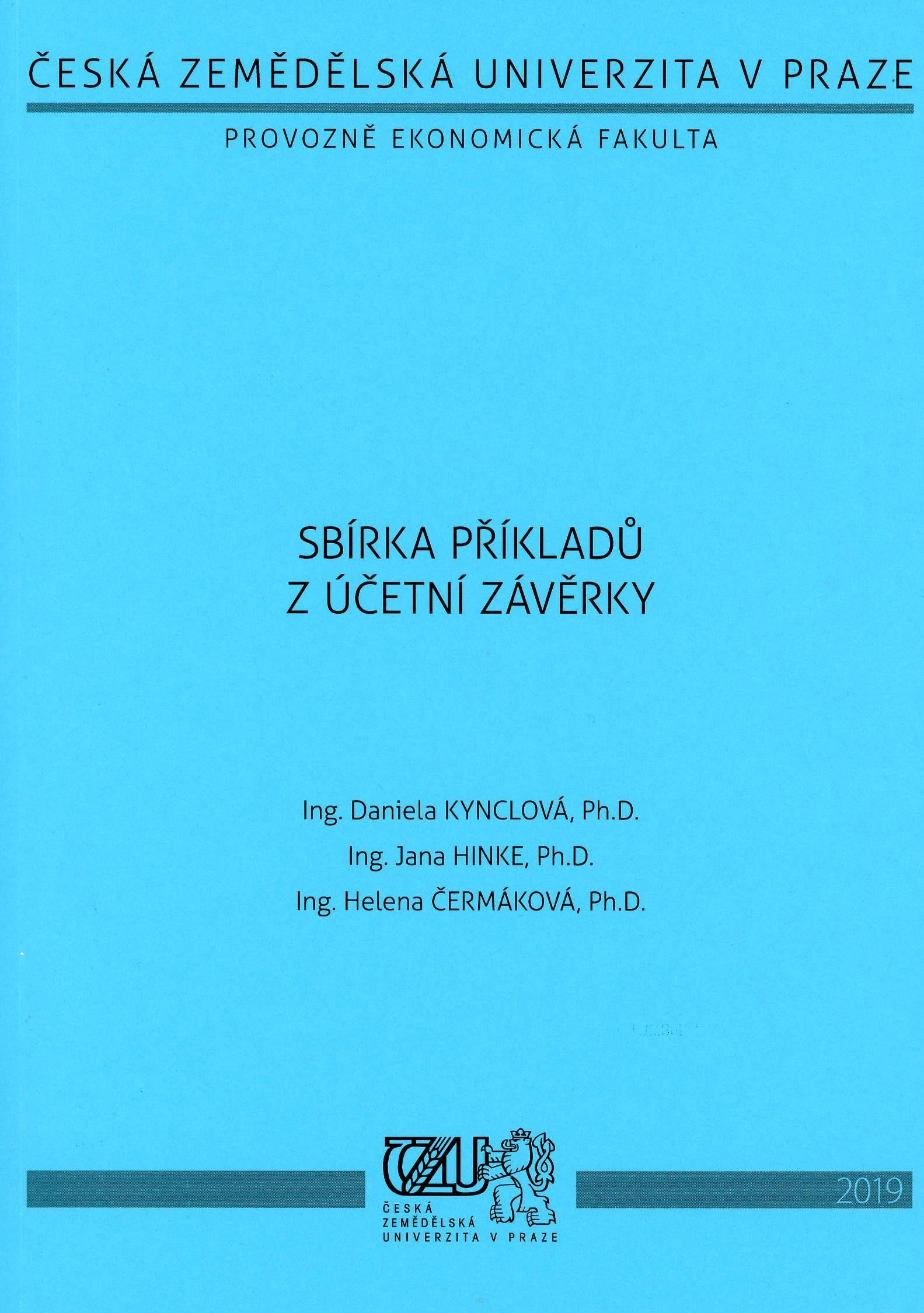 Sbírka příkladů z účetní závěrky