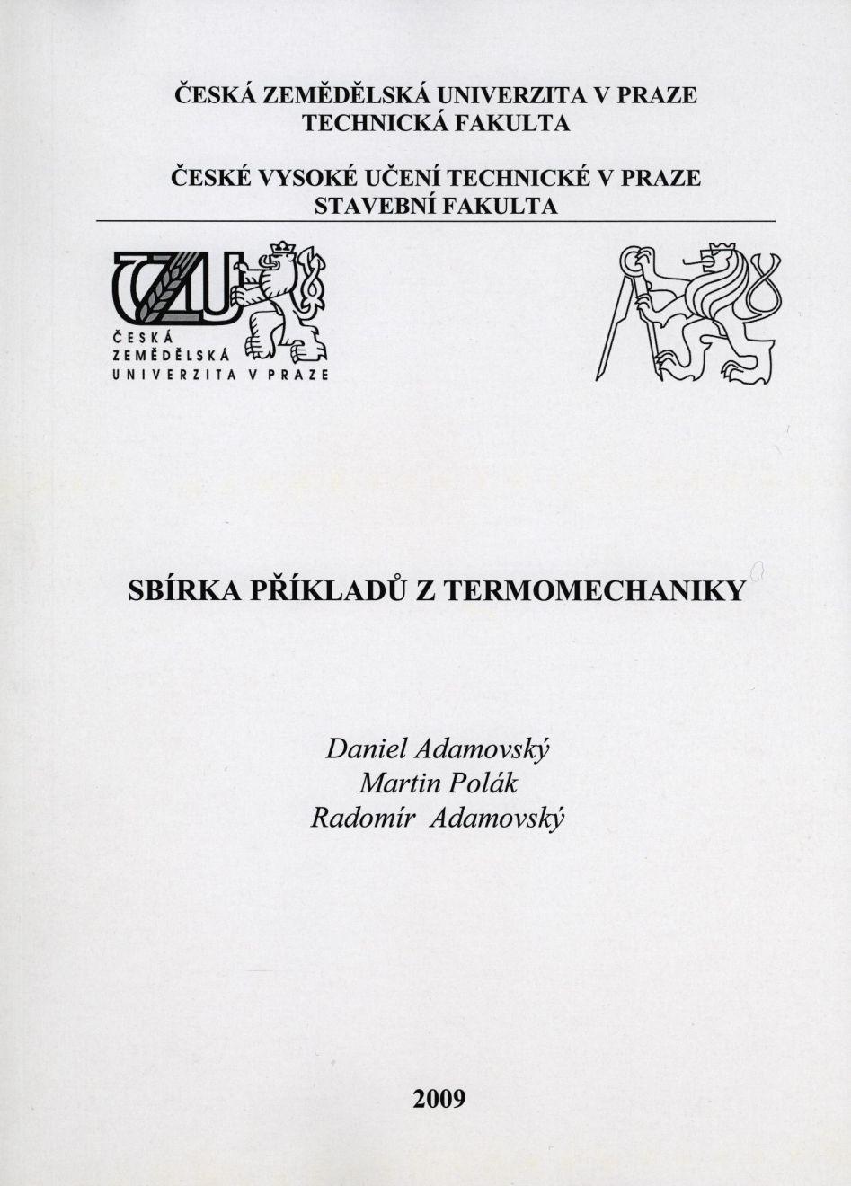 Sbírka příkladů z termomechaniky
