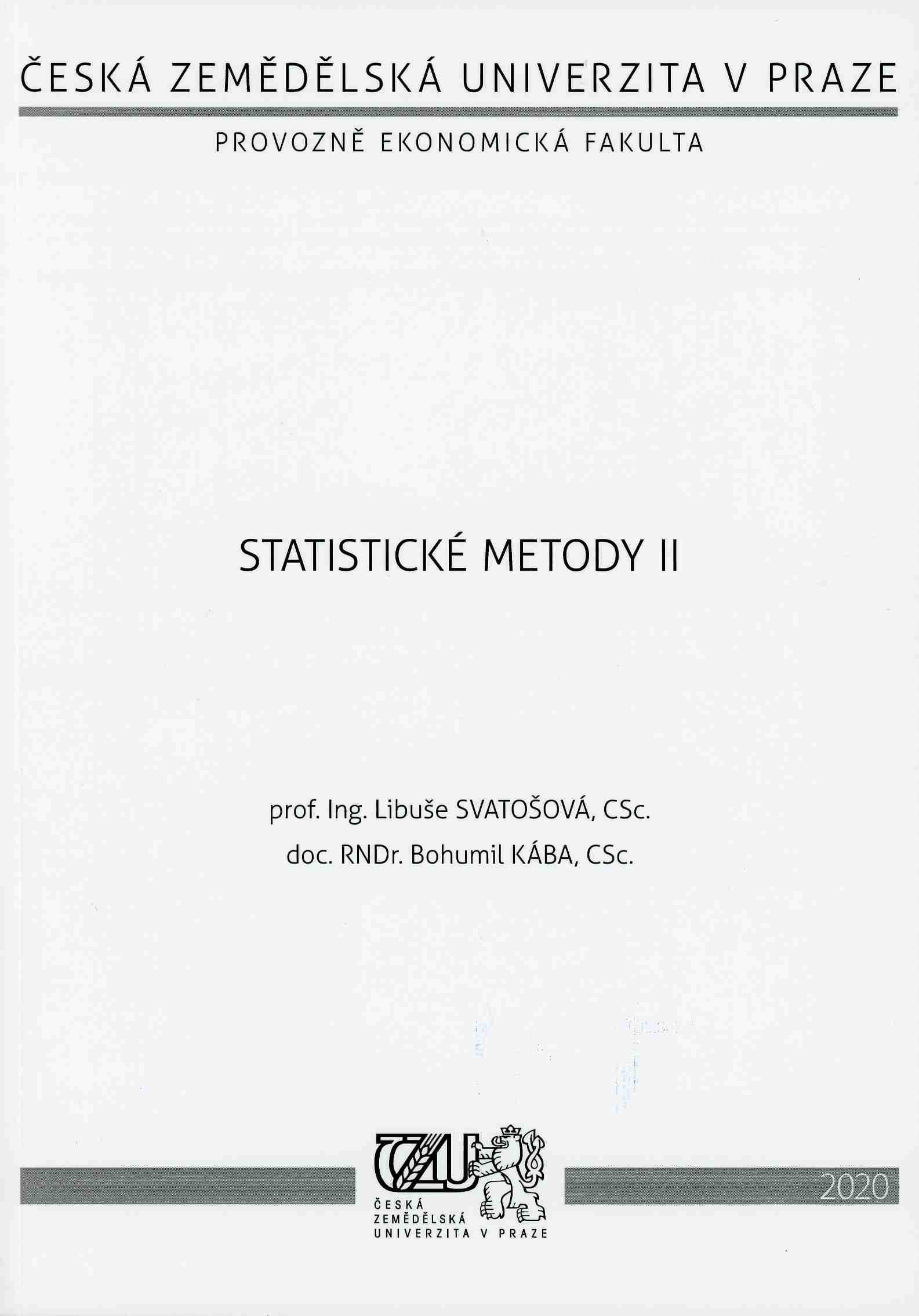 Statistické metody II