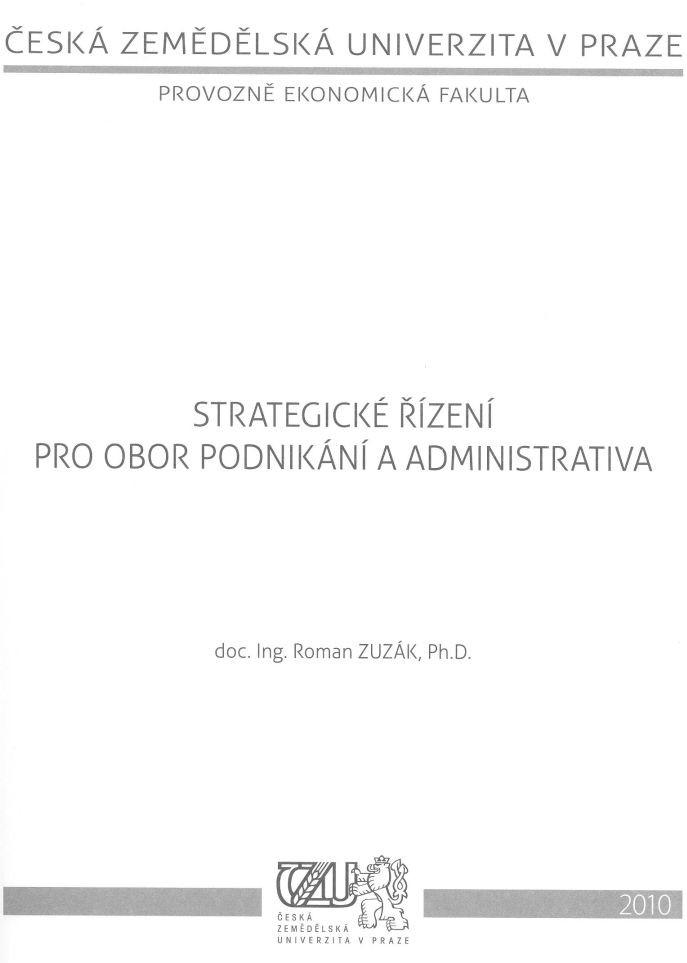 Strategické řízení pro obor podnikání a administrativa