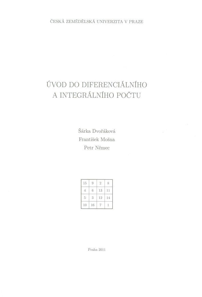 Úvod do diferenciálního a integrálního počtu