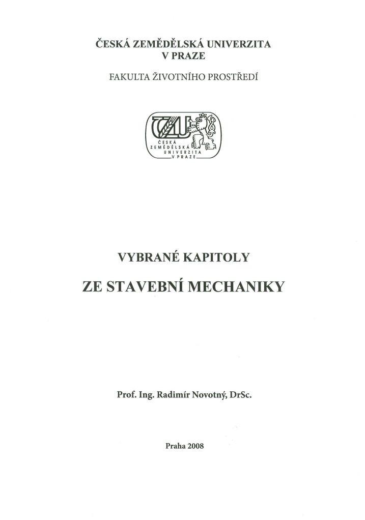 Vybrané kapitoly ze stavební mechaniky
