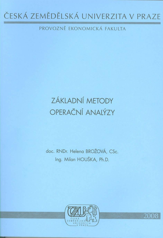 Základní metody operační analýzy