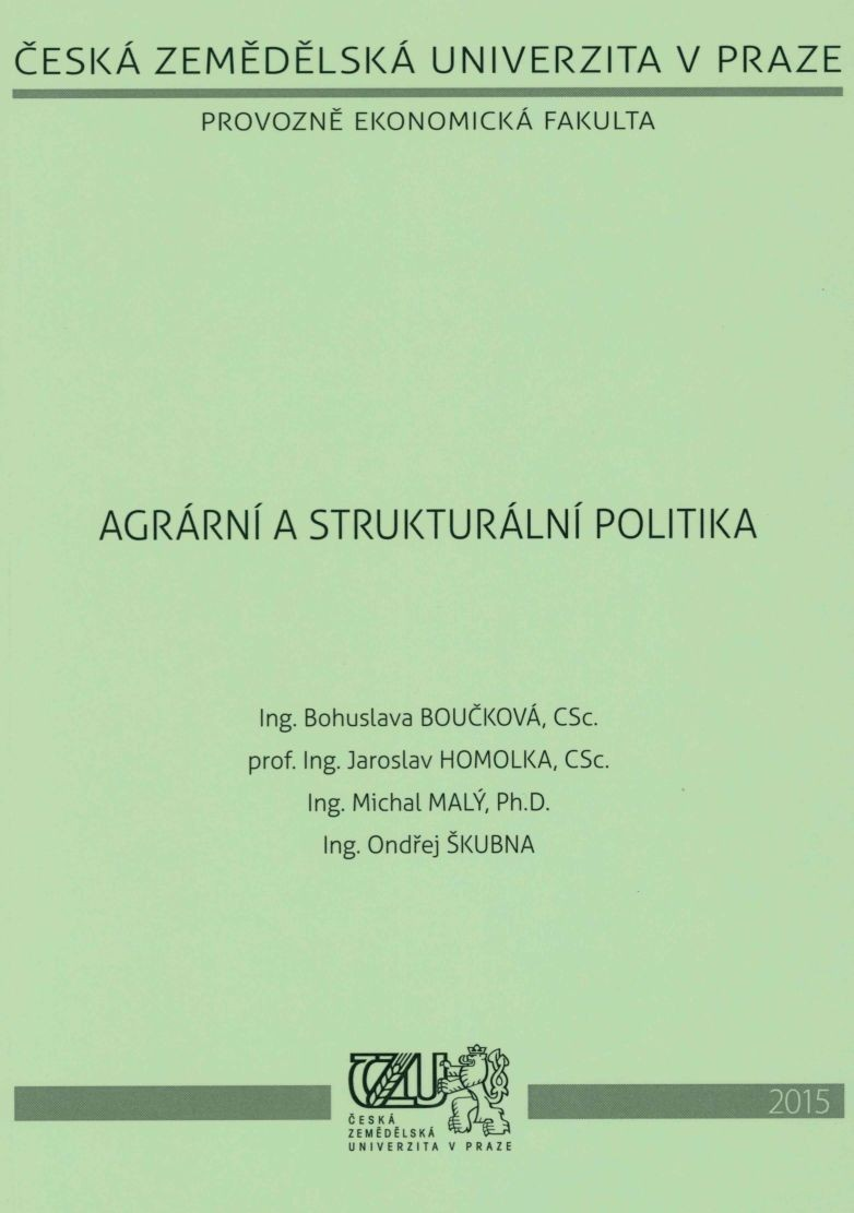 Agrární a strukturální politika