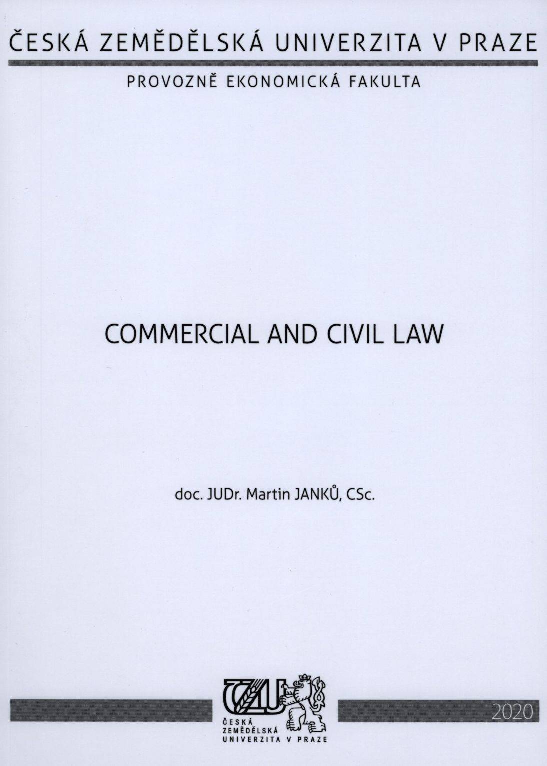 Commercial and Civil Law